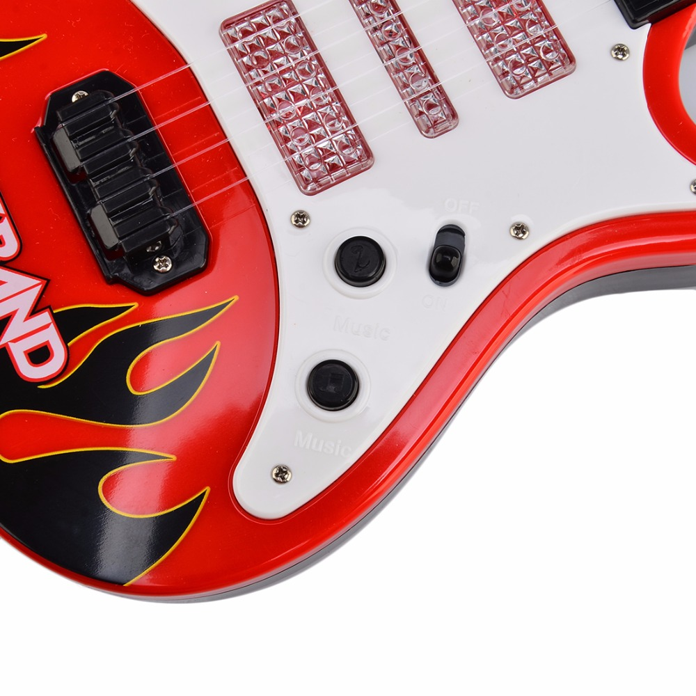 Surwish-Rock-Band-Music-Electric-Guitar-4-Strings-Kids-Musical-Instruments-Educational-Toy-4