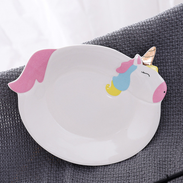 Cute Pink Unicorn Dinning Set (Mugs, Plate, Bowl )