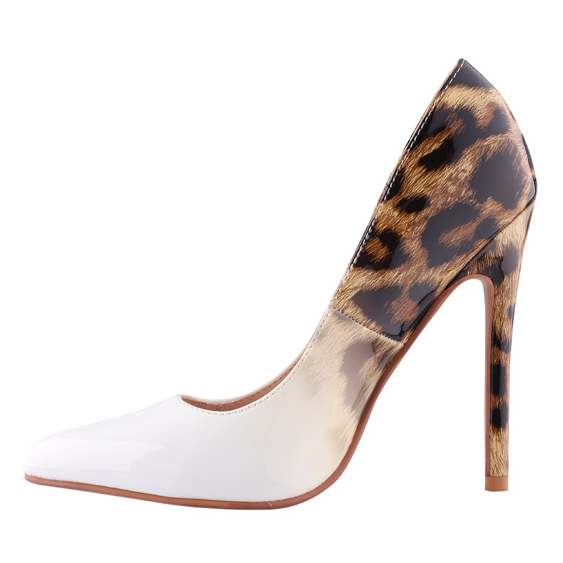 01a231250c1bb9 LALA IKAI Frauen Mode PU Leder Pumps Super High Heels Leopard Sexy Hochzeit  Party Schuhe Zapatos