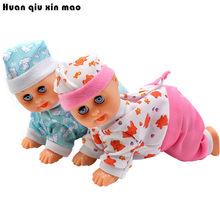 Free Shipping Baby Kids Electric Intelligent Crawling Crying Singing Dancing Simulation Doll(China)