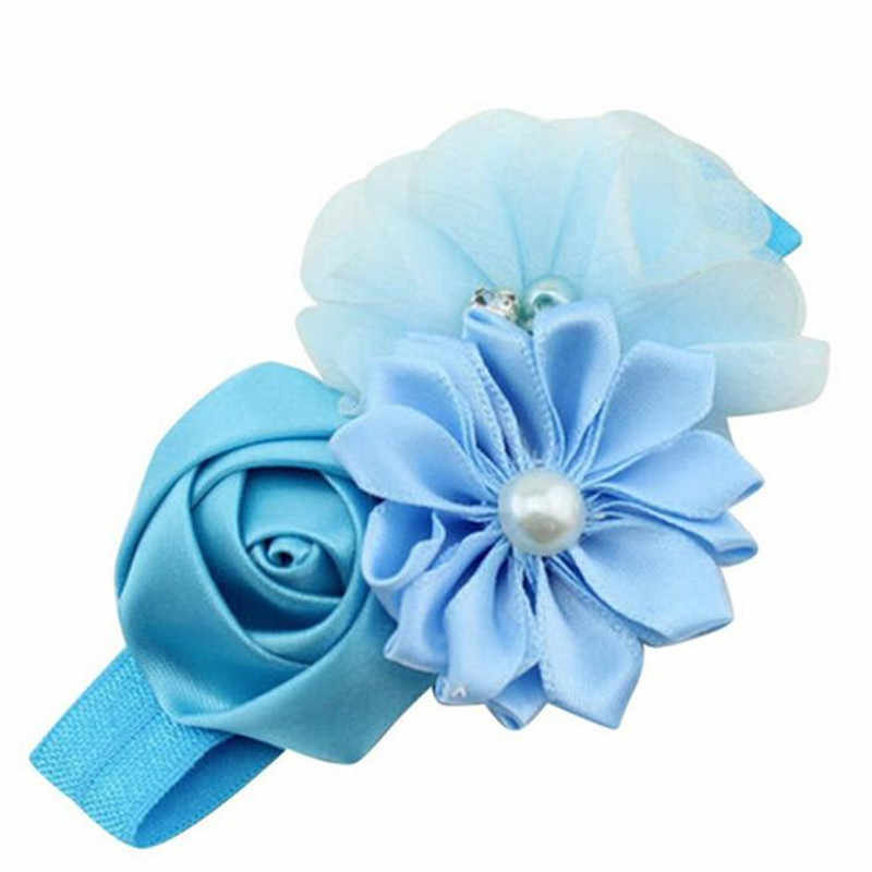Baby Girl soft and comfortable Flower Pearl Flower Hair Band Headband Hairband Hair Accessories BU Convenient hair band Y50C