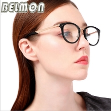 Belmon Optical Glasses Frame Women Fashion Prescription Spectacles Round Glasses Frames Transparent Clear Lens Eyewear RS810
