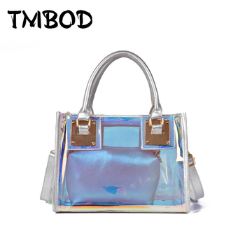 New 2019 Classic Shiny Composite Tote Cross body Bag Women PVC & PU Leather Handbags Lady Messenger Bags For Female an1068
