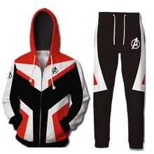 Avengers Endgame Quantum Realm Hoodies Coat Casual Pants Superhero Sweatshirt Cosplay Costume