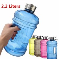 2 2L Large BPA Free Sport Gym Drink Water Bottle Cap Kettle Running Training Camping Can