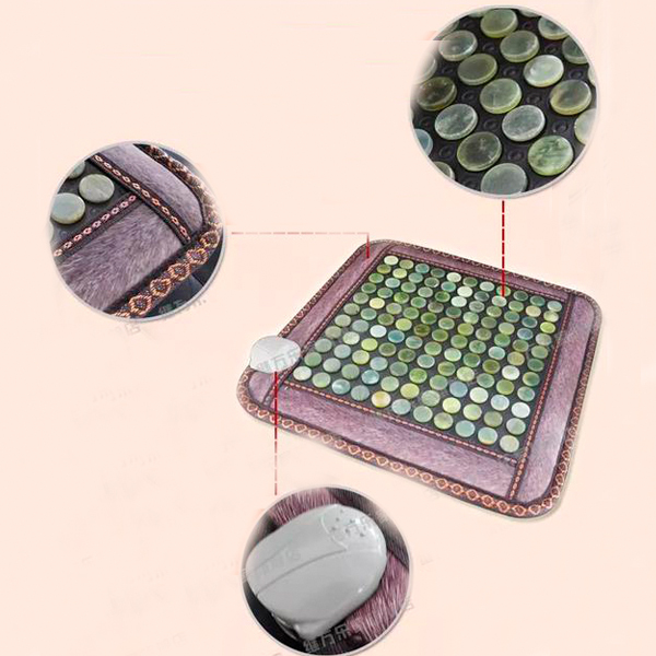 Best Quality! Natural Tourmaline Mini Mat Physical Therapy Mat Jade Health Care Pad Infrared Heat Cushion! Free Shipping good quality natural jade mat tourmaline heat chair cushion far infrared heat pad health care mat ac220v 45 45cm free shipping
