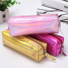 1PC Colorful Waterproof Laser Penci Case Reflective Girls Pencil Pouch Pen Bag Box for Students Stationery Gifts School Supplies