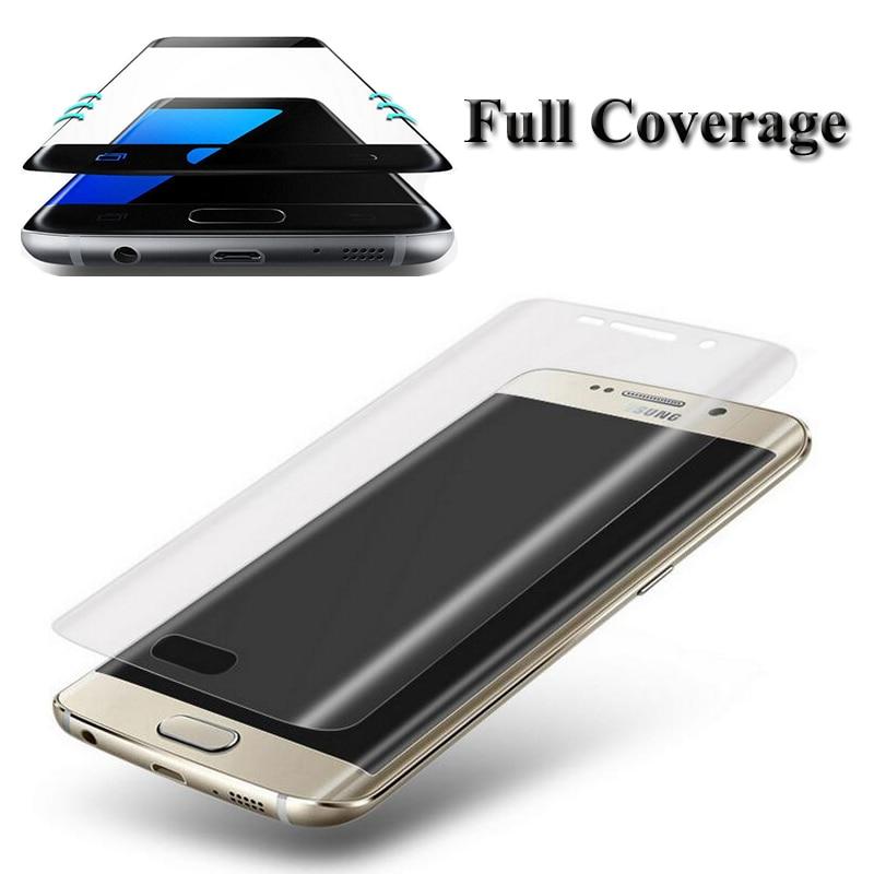 3D <font><b>Curved</b></font> <font><b>Full</b></font> <font><b>Coverage</b></font> Soft PET <font><b>Screen</b></font> Protector Film <font><b>Guard</b></font> for Samsung Galaxy S6 S7 Edge / Plus (Not <font><b>Tempered</b></font> <font><b>Glass</b></font>)