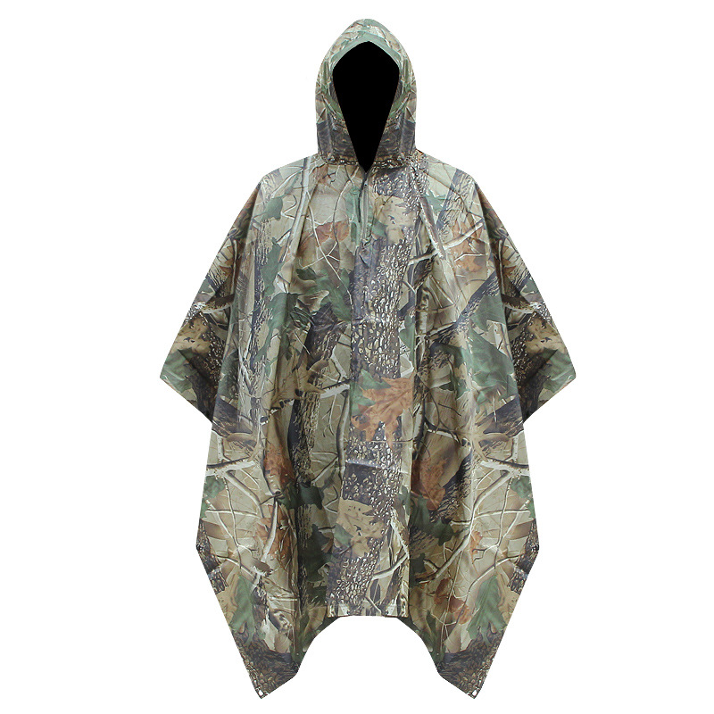 Hunting Raincoat Military-Amry Poncho Camouflage Waterproof Mountaineering Adult Polyester