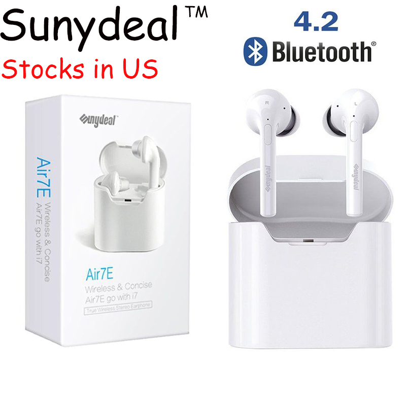 Bluetooth Wireless Earphone For iPhone 7 Sports Headphone Dual in Earbuds Stereo In-Ear Headset Handfree Built In Microphone mini wireless in ear micro earpiece bluetooth earphone cordless headphone blutooth earbuds hands free headset for phone iphone 7