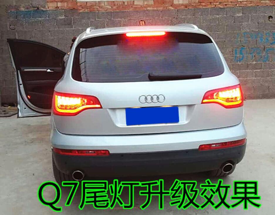 Um conjunto 2 pcs car styling para 2011 ~ 2015/2006 ~ 2010 ano Q7 Luzes Traseiras Da Cauda luzes LED Q 7 q7 Lâmpada de Cauda Lâmpada Traseira