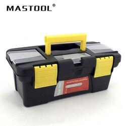 Tamanho pequeno portátil caixa de ferramentas grande armazenamento para ferramentas componentes necessidades diárias caixa de marceneiro eletricista