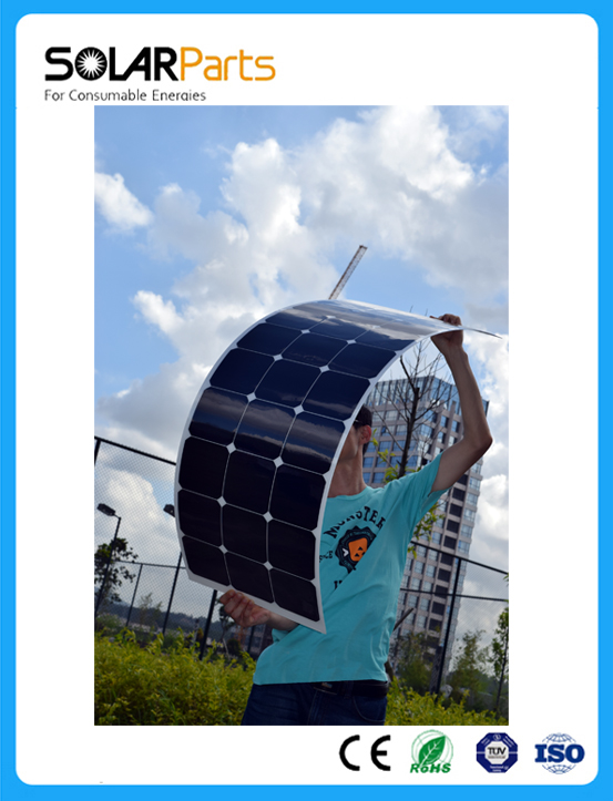 Solarparts 1PCS 100W flexible solar panel 12V solar cell module system RV car marine boat battery