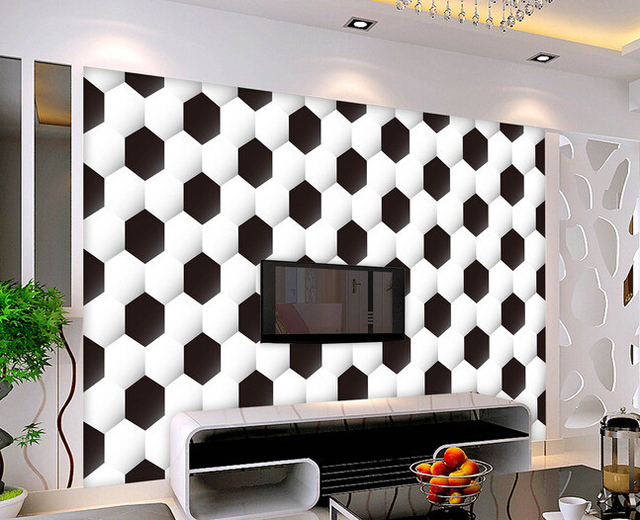 Exceptionnel Custom Papel DE Parede Infantil,3d Texture Football Murals For The Sitting  Room The Bedroom