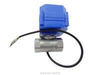 110V DN20 (NPT) (reduce port) motorized ball valve, stainless steel, 2 way, electrical valve