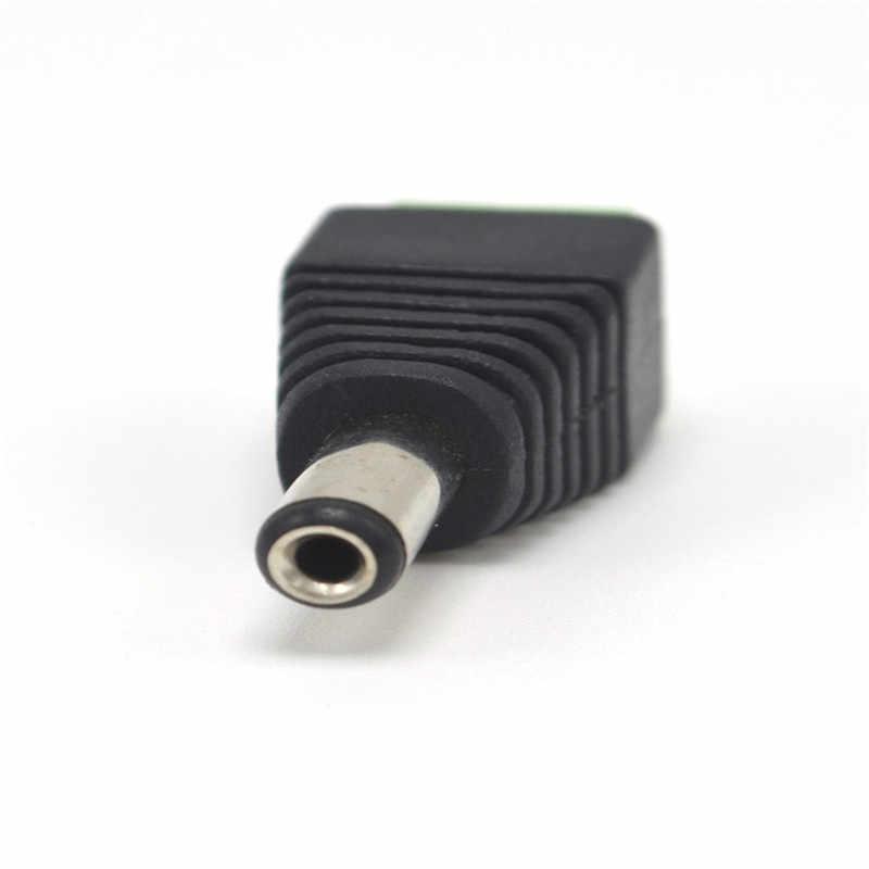 5 sztuk kobieta + 5 sztuk mężczyzna złącze dc 2.1*5.5mm moc adapter gniazda jack kabel z wtyczką złącze do 3528/5050/5730 led pasek światła