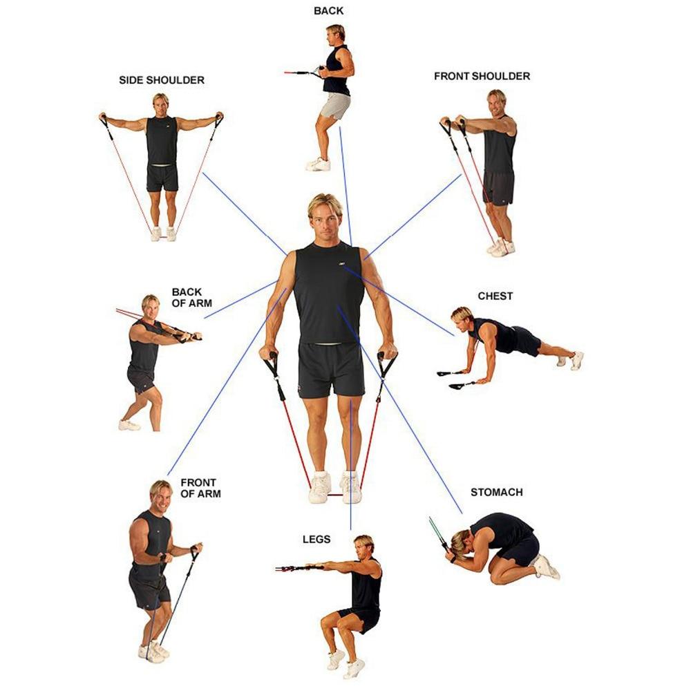 Упражнения с эспандером для рук с картинками