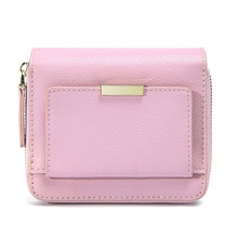 Simple fresh elegant womens wallets and purses European American leather purse simple card short wallet