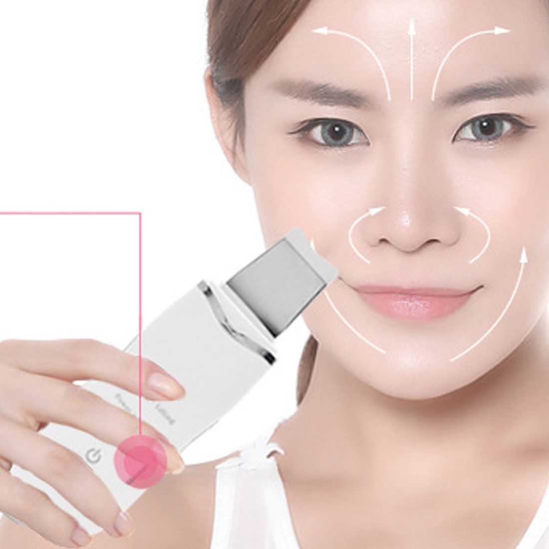 Rechargeable Ultrasonic Skin Face Scrubber Facial Purifier Vibration Peeling Removal Acne Exfoliating Pore Cleaner Tools HotRechargeable Ultrasonic Skin Face Scrubber Facial Purifier Vibration Peeling Removal Acne Exfoliating Pore Cleaner Tools Hot