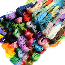 8meter/50pcs Mixed Cross Stitch Cotton Sewing Skeins Craft Embroidery Thread String Rope Floss Kit DIY Sewing Tools Accessories