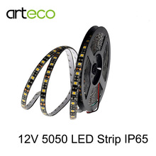 5M DC12V LED strip 5050 Black PCB 60leds /m IP20/IP65 waterproof 5050 LED strip RGB / White / warm white,Free shipping