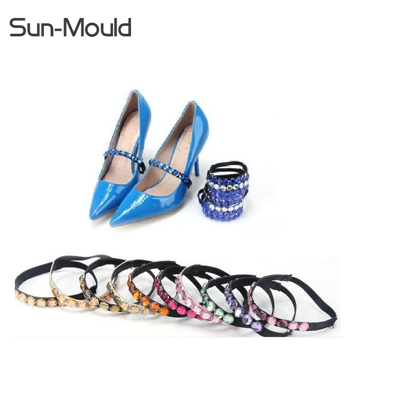 New universal wedding sport outside high heeled flat shoes safety clips strap locking shoe crystal shoelace belt 4pairs/lot