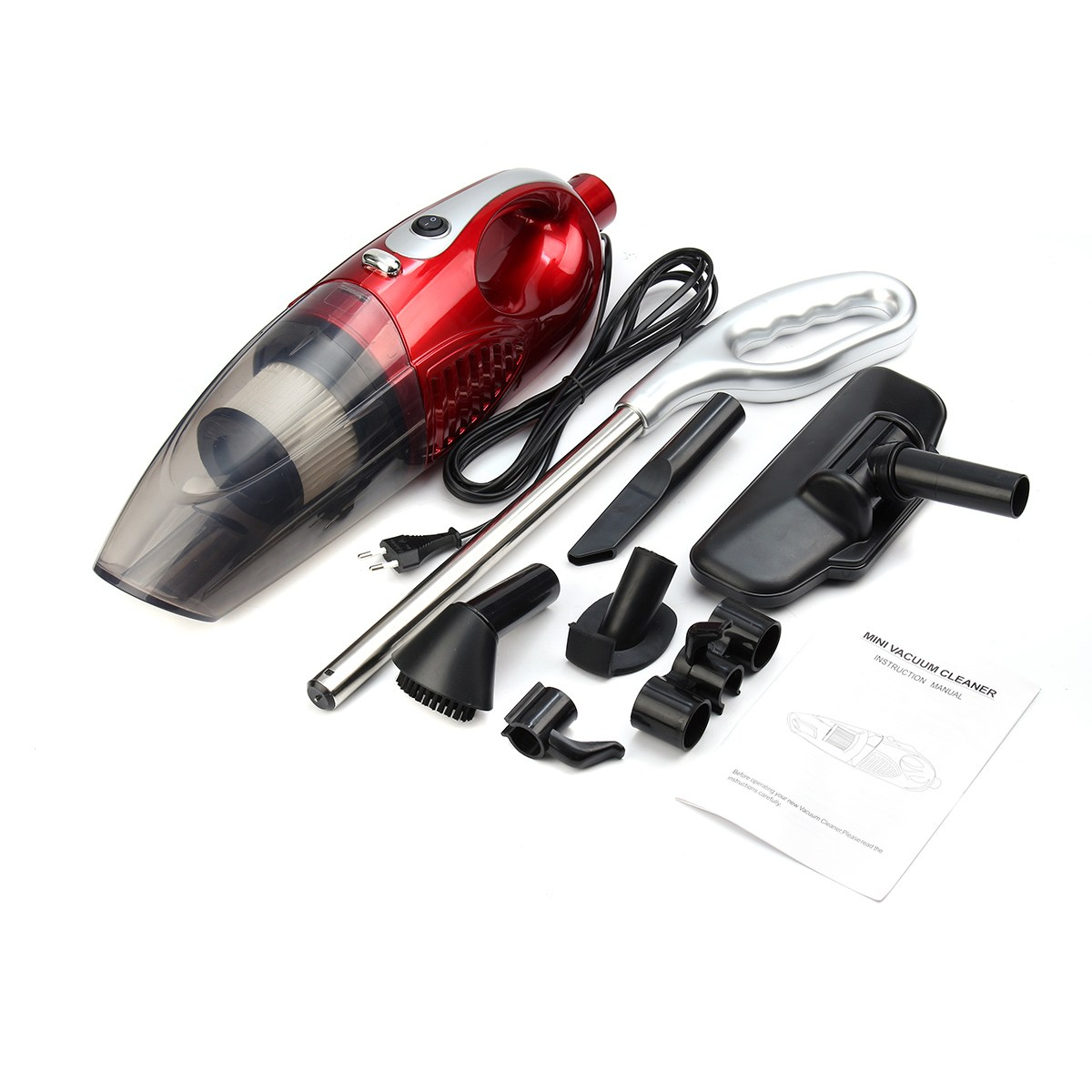 2 in 1 1200W Household Car Home Vacuum Cleaner Hand Held Portable Upright Bagless Lightweight