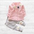 Baby Girl Одежда 2016 Весенняя Мода Новорожденных Девочек Одежда Набор 3-24 М Хлопок Полный Рукав Одежды Roupa де Bebes Menina