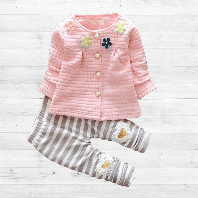 Baby Girl Clothes 2016 Spring Fashion Newborn Baby Girls Clothes Set 3-24M Cotton Full Sleeve Clothing Roupa De Bebes Menina