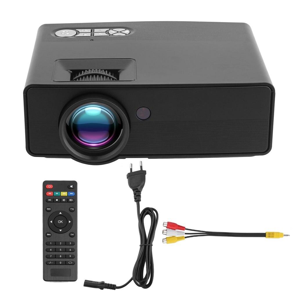 Multifonction Portable Intelligent projecteur led Multimédia led projecteur home cinéma Pour TV Ordinateur Portable Jeu Smartphone UE Plug