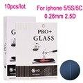 10 unids SE Vidrio Templado Protector de Pantalla de Cine para el iphone 5 iPhone 5 5C 5S 5SE Película Protectora
