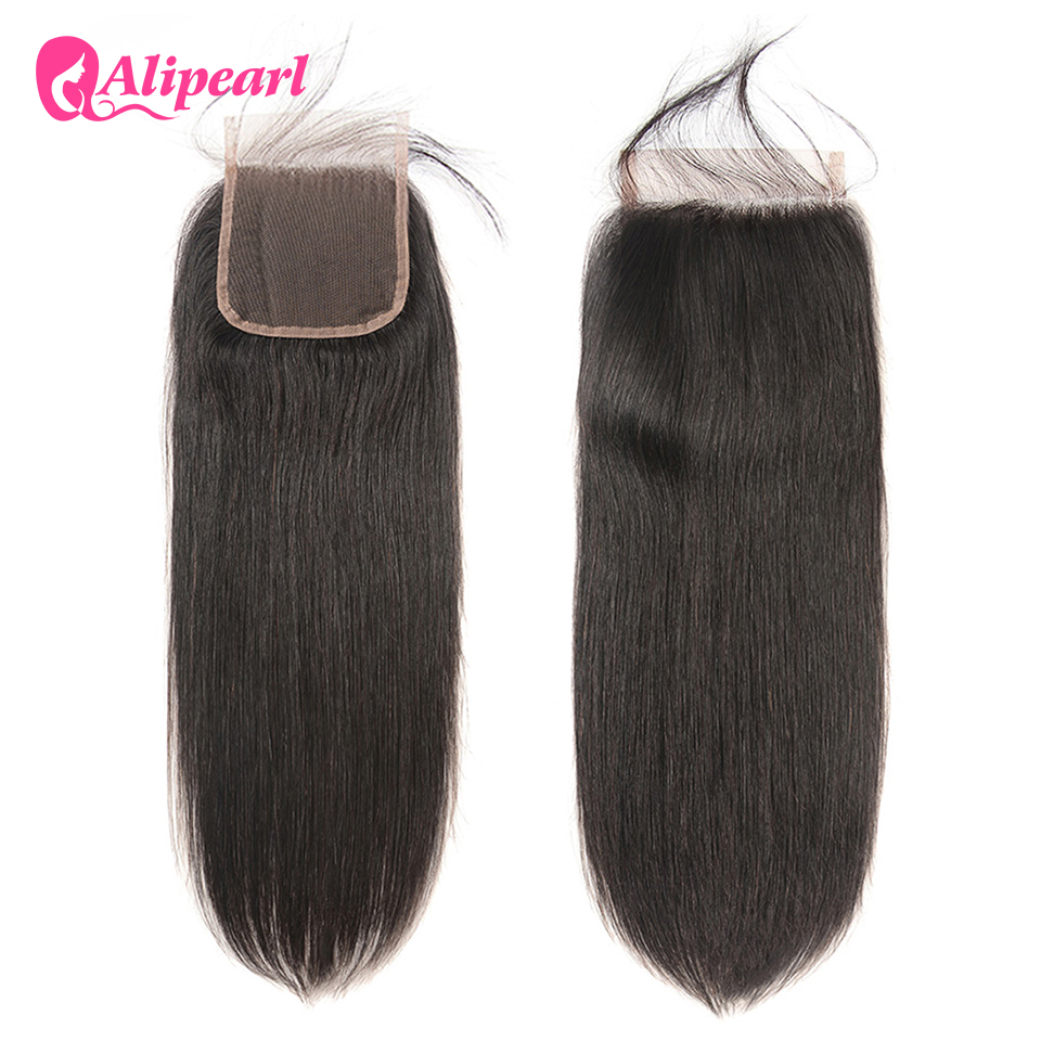 Hair Extensions & Wigs Closures Alipearl Hair Straight 6x6 Closure Human Hair Lace With Baby Hair Closure Swiss Lace Natural Color 8-20 Brazilian Remy Hair