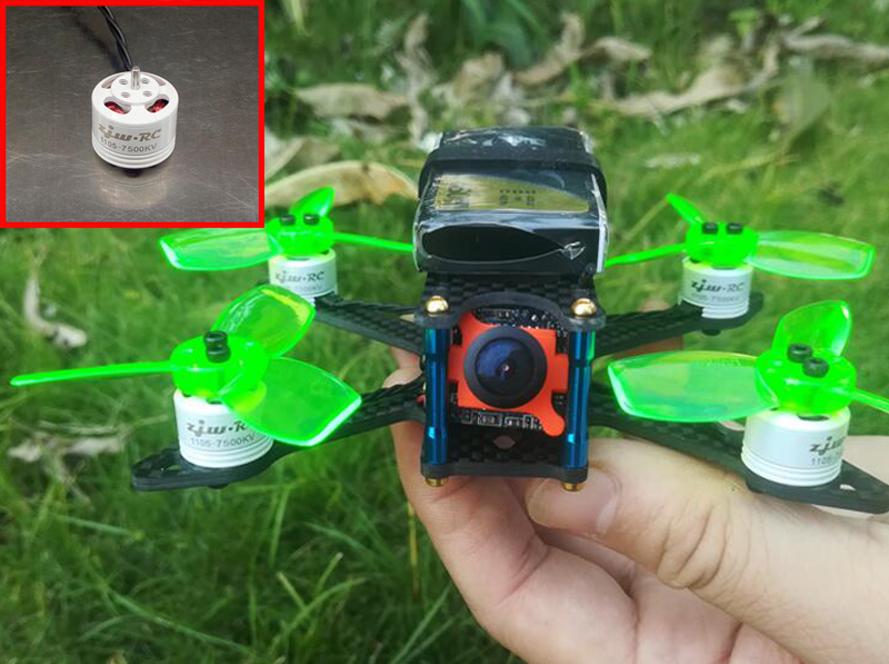 4PCs 1105 7500KV <font><b>2S</b></font> <font><b>Motor</b></font> CW <font><b>Motor</b></font> CCW <font><b>Motor</b></font> Positive Negtive <font><b>Motors</b></font> For Mini FPV 110 130 Frame RC Racing Drone Quadcopter image