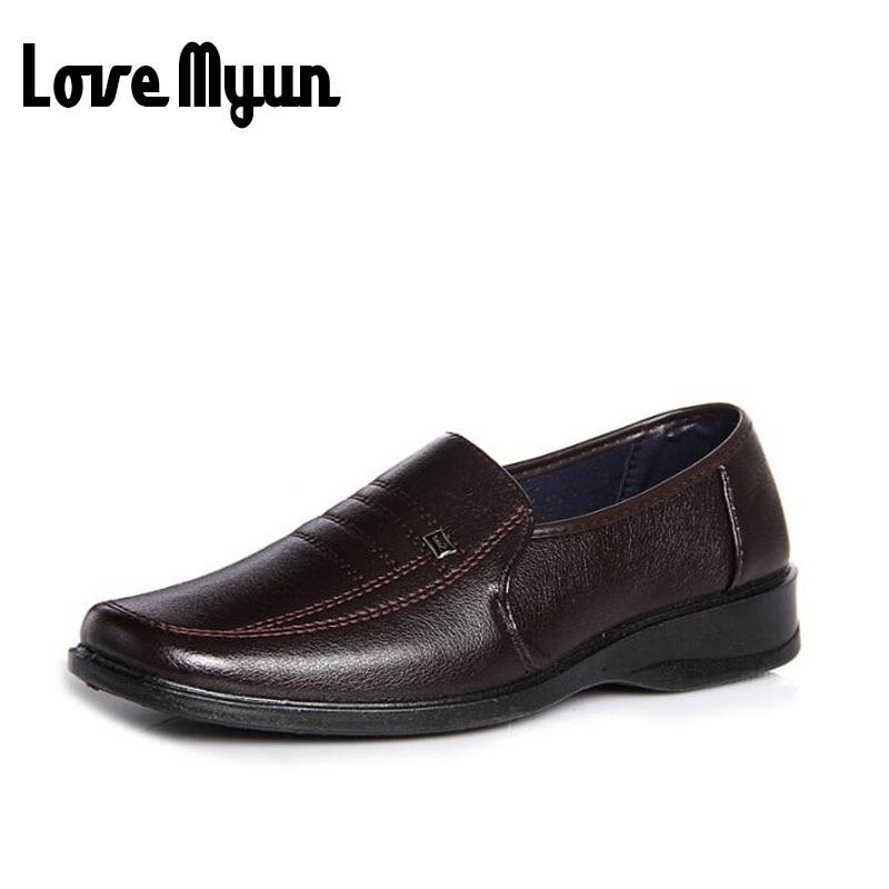 Cheapest Men PU leather shoes fashion black wedding shoes dress shoes patent leather business shoes men