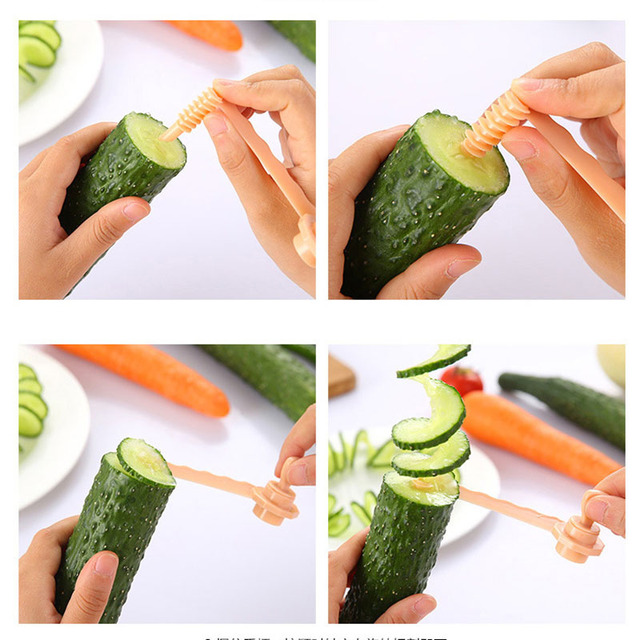 Spiral Plastic Vegetable Slicer
