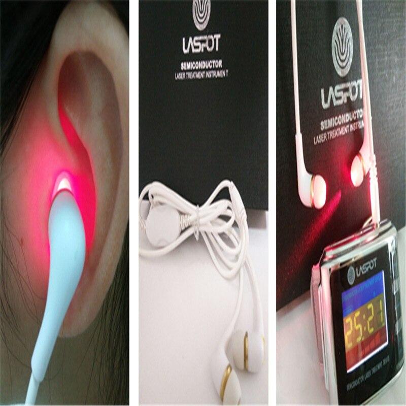 LASPOT 2018 Più Nuovo Cure Trattamento Orologio Laser Tinnito Sonda Dell'orecchio Protezioni per Le Orecchie Tipo di Uso Domestico Dispositivo di Assistenza sanitaria Elettronica
