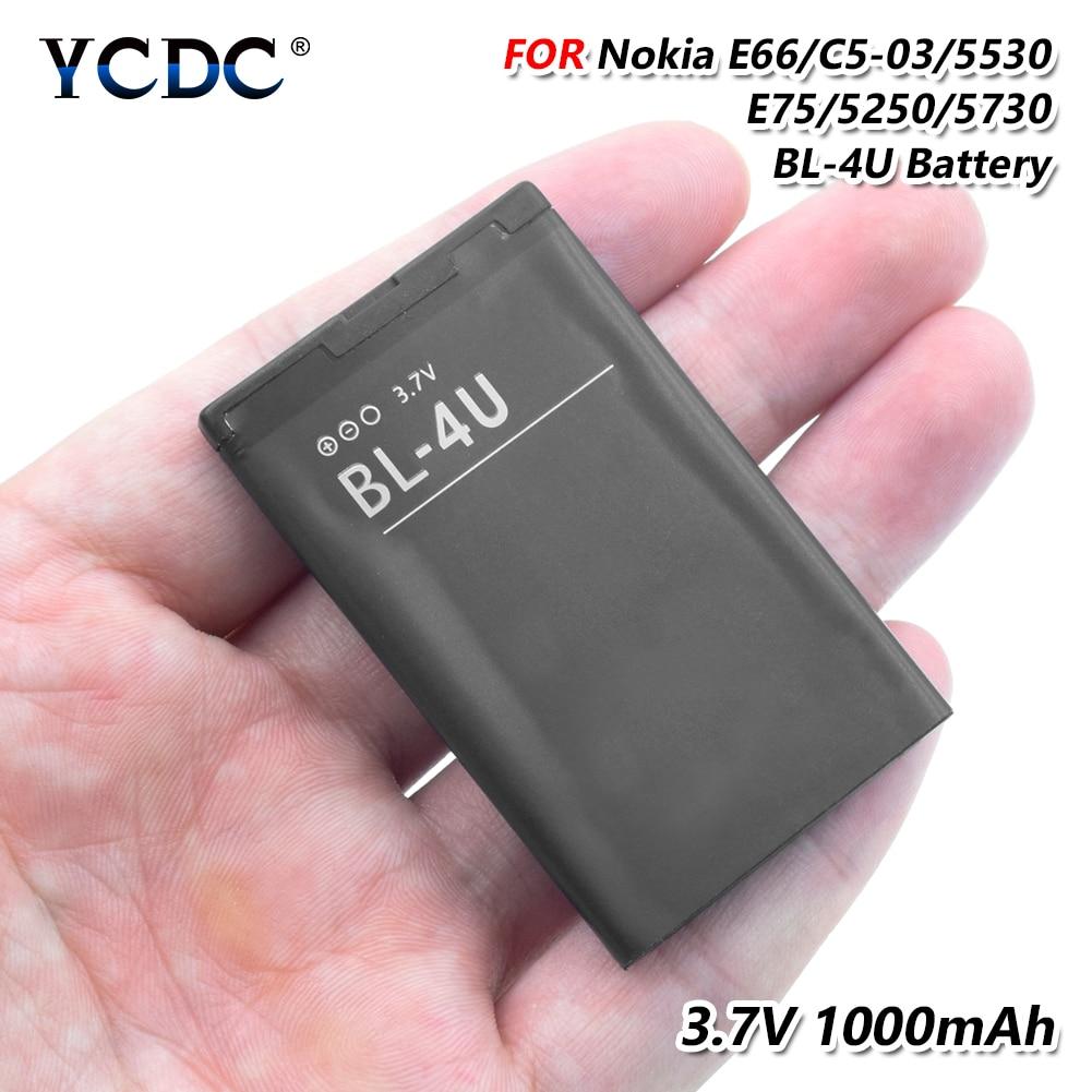 Ycdc 1 St 3.7 V 1000 Mah Bl-4u Bl 4u Bl4u Lithium Li-ion Oplaadbare Batterij Voor Nokia Asha 206/ Asha 210/asha 300/asha 305