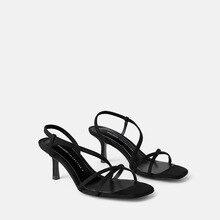 Nuova estate parola con i sandali femminile selvaggio semplice di modo della pelle scamosciata con open toe di spessore con scarpe da donna marea.
