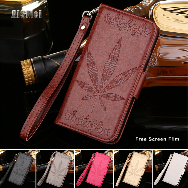 "AiSMei 5.0"" Wallet Leather Funda for Capa Samsung Galaxy A5 2015 A500 A5000 A500F A500H SM-A500 Case Coque Cover Card insert"