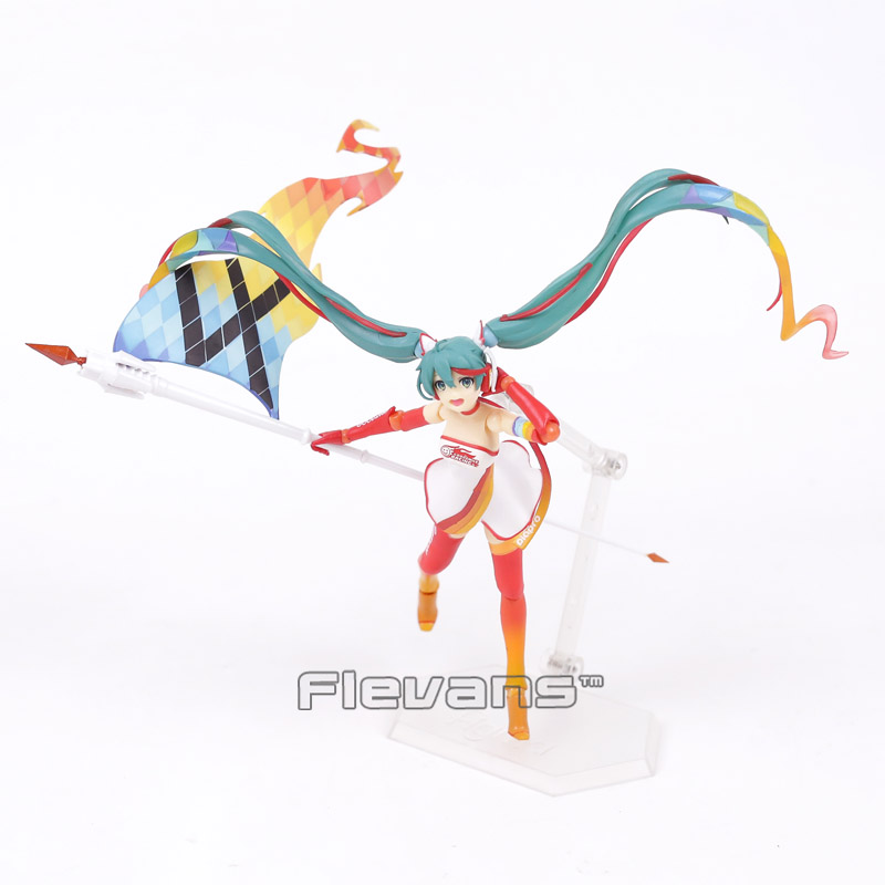 2 Colors Available Anime Hatsune Miku Figma SP-078 Racing Miku 2016 Ver. PVC Action Figure Collectible Model Toy 14cm dota 2 variant action figure figma sp 070 windranger variable doll pvc action figure collectible model toy 14cm kt3545
