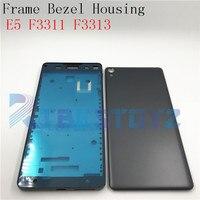 Meados Placa Oriente Faceplate Quadro Para Sony Xperia E5 F3311 F3313 LCD Apoio Quadro Moldura Habitação + Lado da Chave Poeira peças de Plug|Estojos de celular|   -
