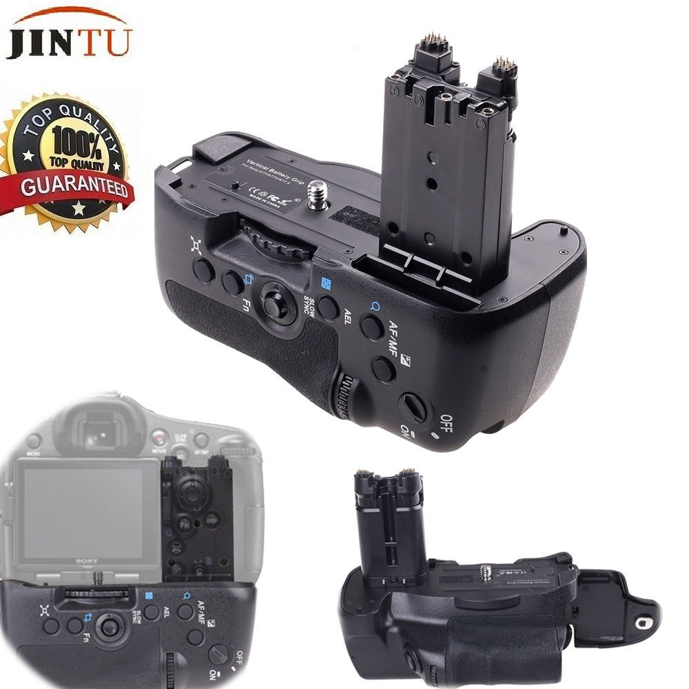 JINTU Vertical Shutter Camera Battery Grip Holder For Sony STL- A77 A77V A77ii A99ii DSLR Replace VG-C77AMJINTU Vertical Shutter Camera Battery Grip Holder For Sony STL- A77 A77V A77ii A99ii DSLR Replace VG-C77AM