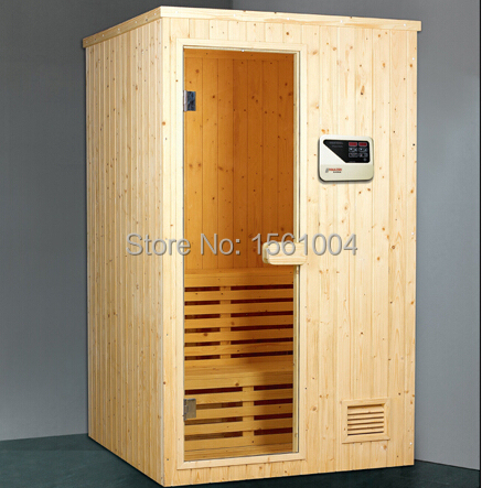 Madera Tradicional De Dos Personas Seca Sauna Sala De Vapor Cabina - Sauna-madera