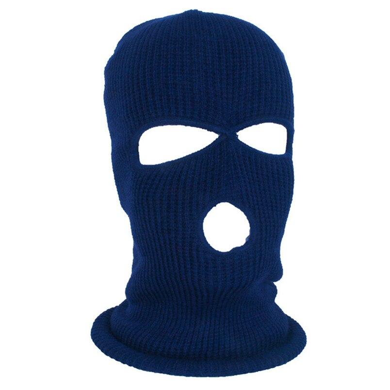 Full Face Mask Ski Mask Winter facemask Cap Balaclava Hood Army Tactical Mask 3 Hole cycling winter mask #4n26 (1)