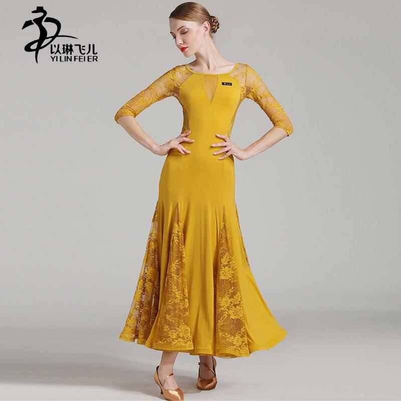 New Autumn Ballroom Skirts Women Modern Waltz Tango Standard Costumes Ballroom Practice Dresses
