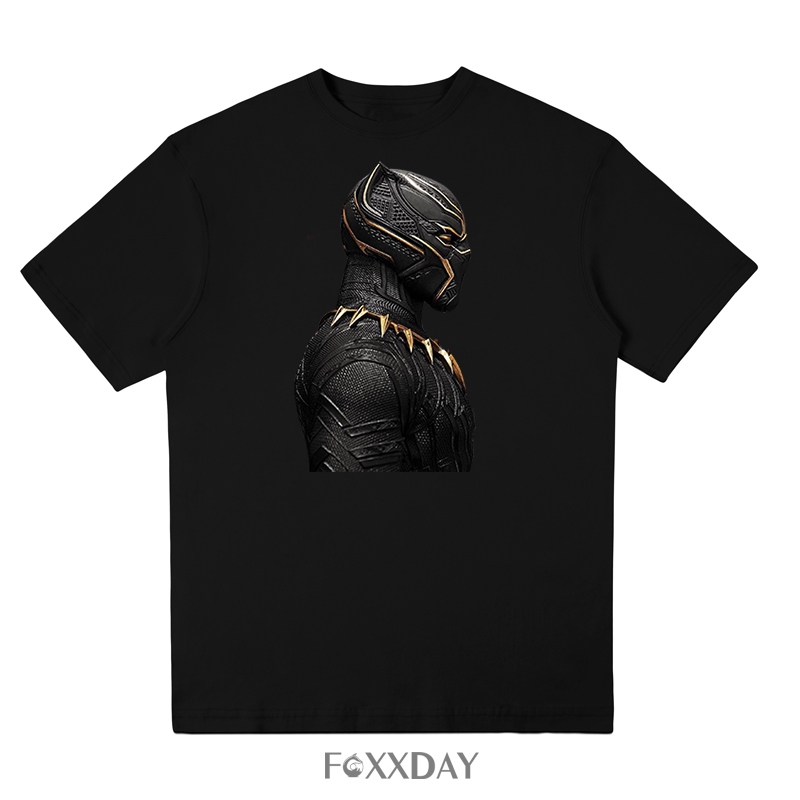 The Avengers Black Panther T'Challa Ruler T-Shirt Classic Cotton Men T shirt Round Collar Short Sleeve Leisure Tops Camiseta