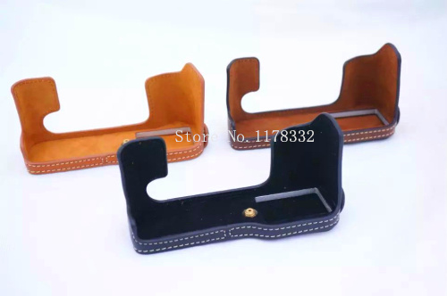 Classical New Arrival Half Body Set Cover Shoulder Strap for Fujifilm Fuji XT -10 XT10 PU Leather Camera Bag Case