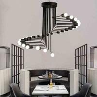 Vintage Pendant Light Iron Pendant Lamp Spiral Staircase Lamp Drop light Fixture For Kitchen Hanging Lamp Home Lighting