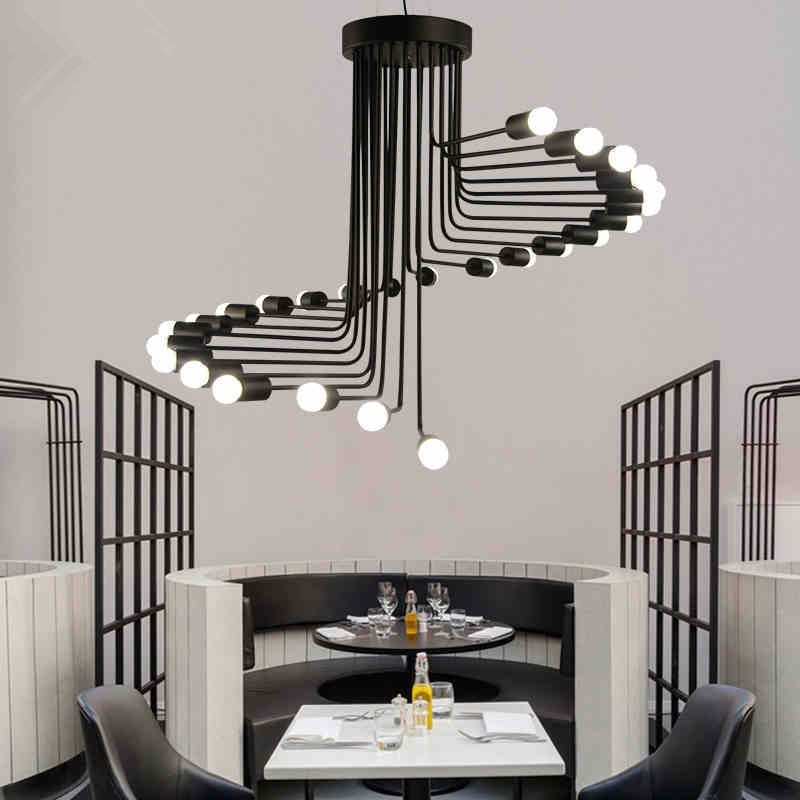 Vintage Pendant Light Iron Pendant Lamp Spiral Staircase Lamp Drop light Fixture For Kitchen Hanging Lamp Home Lighting