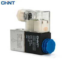 CHINT Electromagnetism Valve 220v Two-way Reversing Valve 24v 12v Coil 2V025-08 Solenoid Valve dc 24v 320ma two way solenoid valve 7w vx2120 64